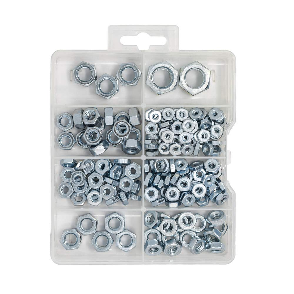 T.K.Excellent Hex Nuts 1/2-6# with zinc Plated 178 Pcs