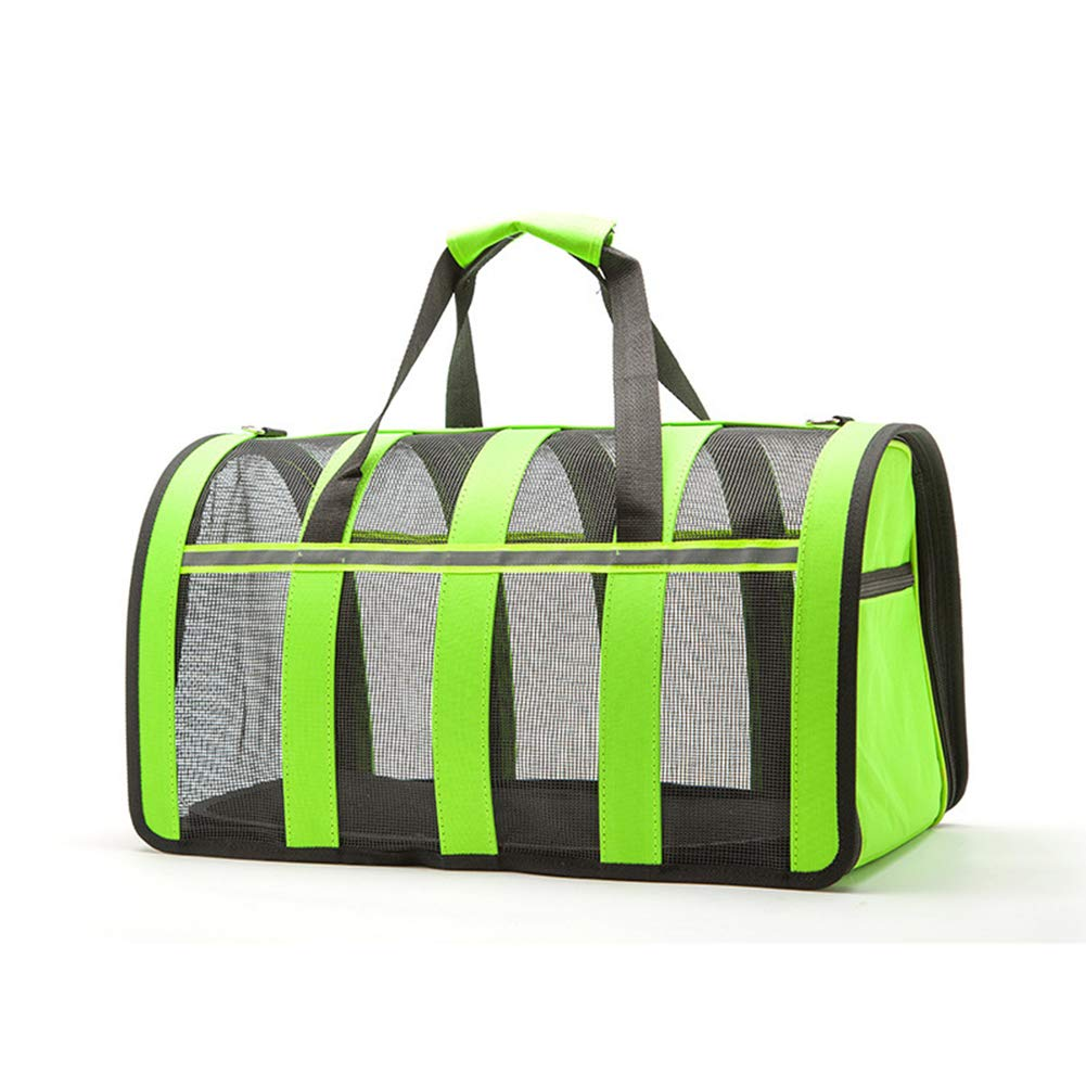 Green 352420cm Green 352420cm Cat and Dog Pet Handbag Mesh Gauze Folding Space Capsule Out Portable,Green,35  24  20cm