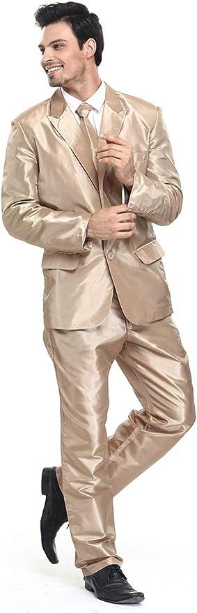 Traje de Fiesta para Hombre, Color sólido, Traje de Ocio para ...