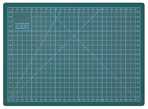 WEDO Schneideunterlage Cutting Mat, selbstschließende Oberfläche, 30 x 22 x 0,3 cm, CM 30, grün