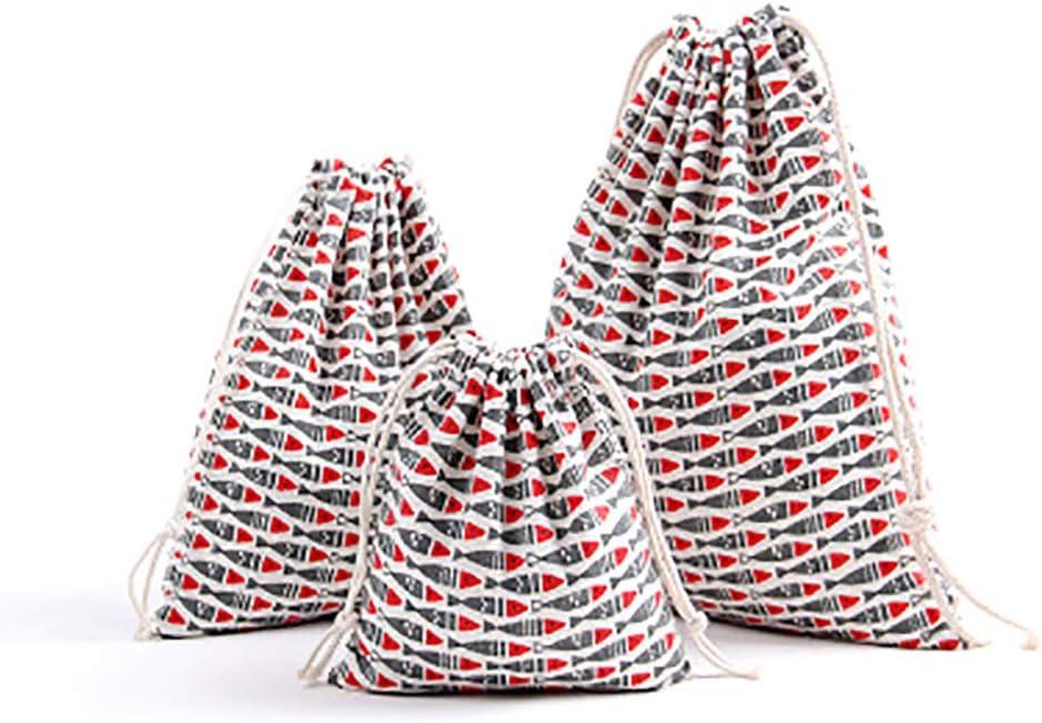 Small 14*16cm Namgiy Cordon en Coton Sacs de Voyage Sacs /à Chaussures Pochette Essential Stuff /à la Poussi/ère Sacs Organiseur de Poche de Rangement pour V/êtements de Voyage Home S