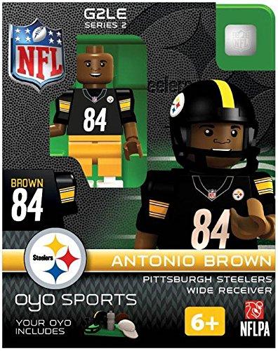 NFL Pittsburgh Steelers Antonio Brown Gen 2 Mini Figure, Petit