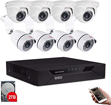 SANNCE Full 1080P 8CH// 4CH DVR 5in1 2MP Security Camera System Dome Night Vision