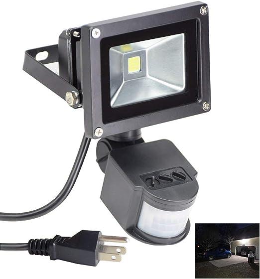 LED Floodlight PIR Motion Sensor Security Flood Lights Outdoor Garden 100W-10W