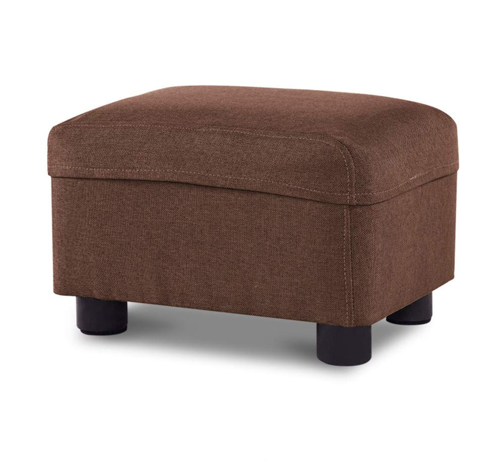D 37x27x20cm(15x11x8) Footstool Footrest,Removable Wash,Solid Wood Sturdy Stool Softness shoes Bench for Make Up Fitting Room Living Room Home-c 37x27x20cm(15x11x8)