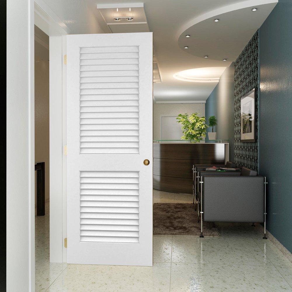 Louver-Louver Plantation Interior Door Slab Kimberly Bay White 80x36