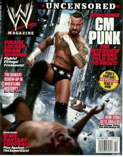 WWE Magazine ~ October 2011 ~ CM Punk (Uncensored)/ John Cena