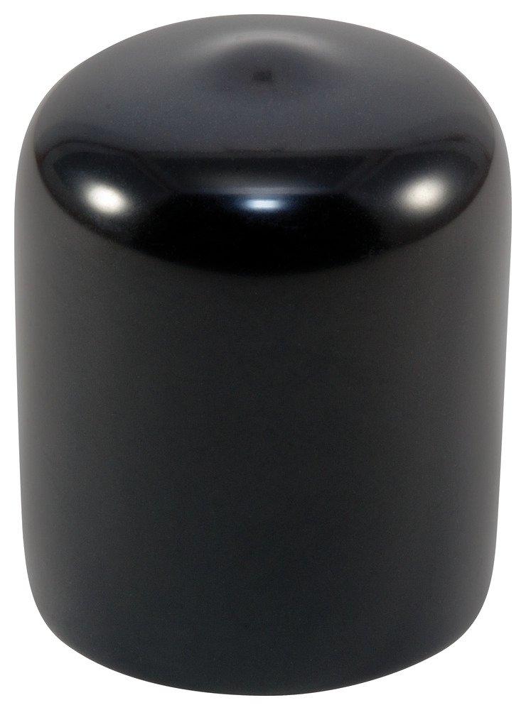 Caplugs 99390022 Plastic Round Cap VC-750-16, VINYL, Cap ID 0.750'' Length 1.000'', Black (Pack of 25)