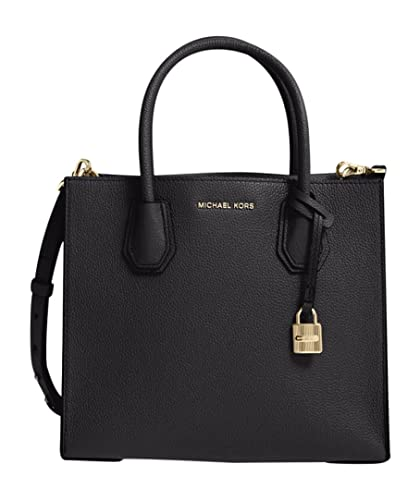 721e6c197f3f Amazon.com  Michael Kors  Medium Mercer  Leather Tote Black  Shoes