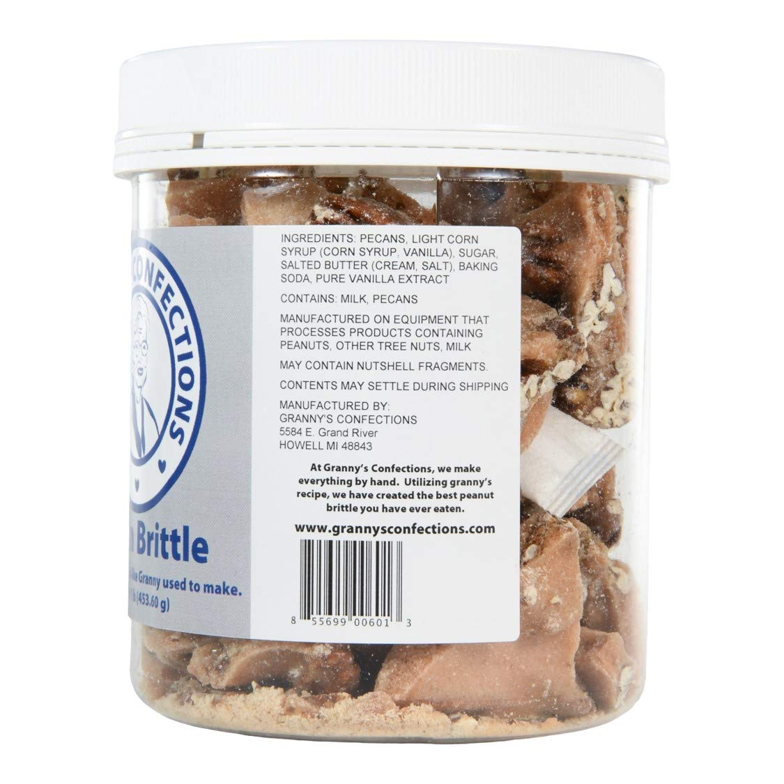 Handmade Pecan Brittle. Grade ''A'' Pecans. Voted Best Brittle - One Pound (16 oz) Container by Granny's Confections LLC (Image #3)