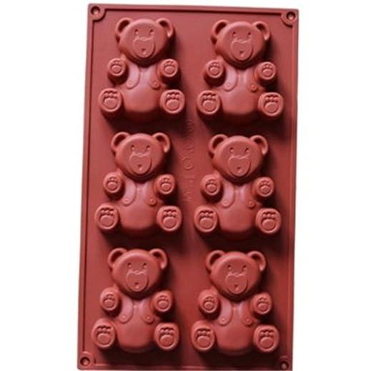 Amazon.com: u-beauty Cute 6-Cavity oso Shaped Cake Chocolate ...