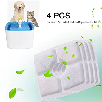 Paracity Water Softening Replacement Filter For Pet Drinking Fountain Set Of 2 Pet Supplies