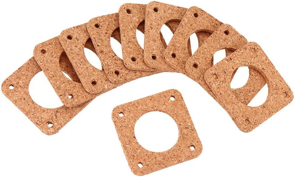 10 Pieces 4242mm Nema17 42 Stepper Motor Cork Sheet Absorber Vibration Damper for 3D Printer ILS