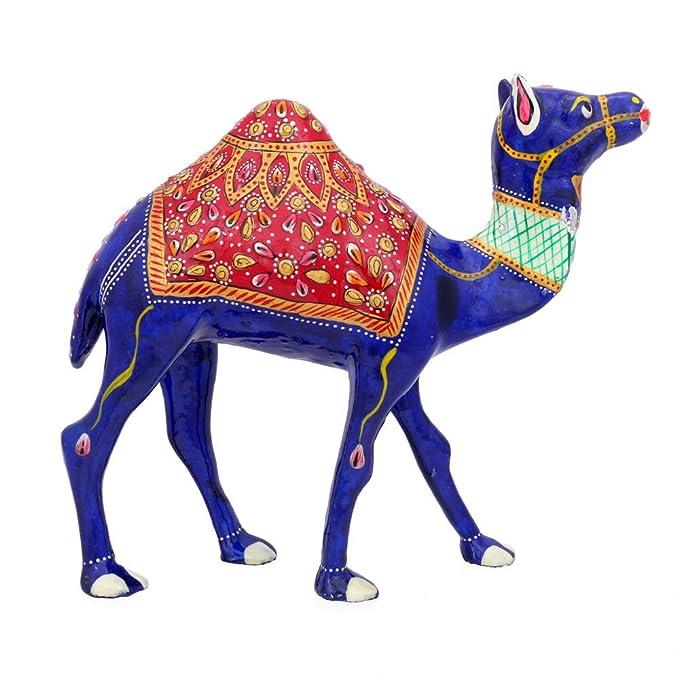 Amazon.com: CraftVatika metal Painted Camello decorativa ...