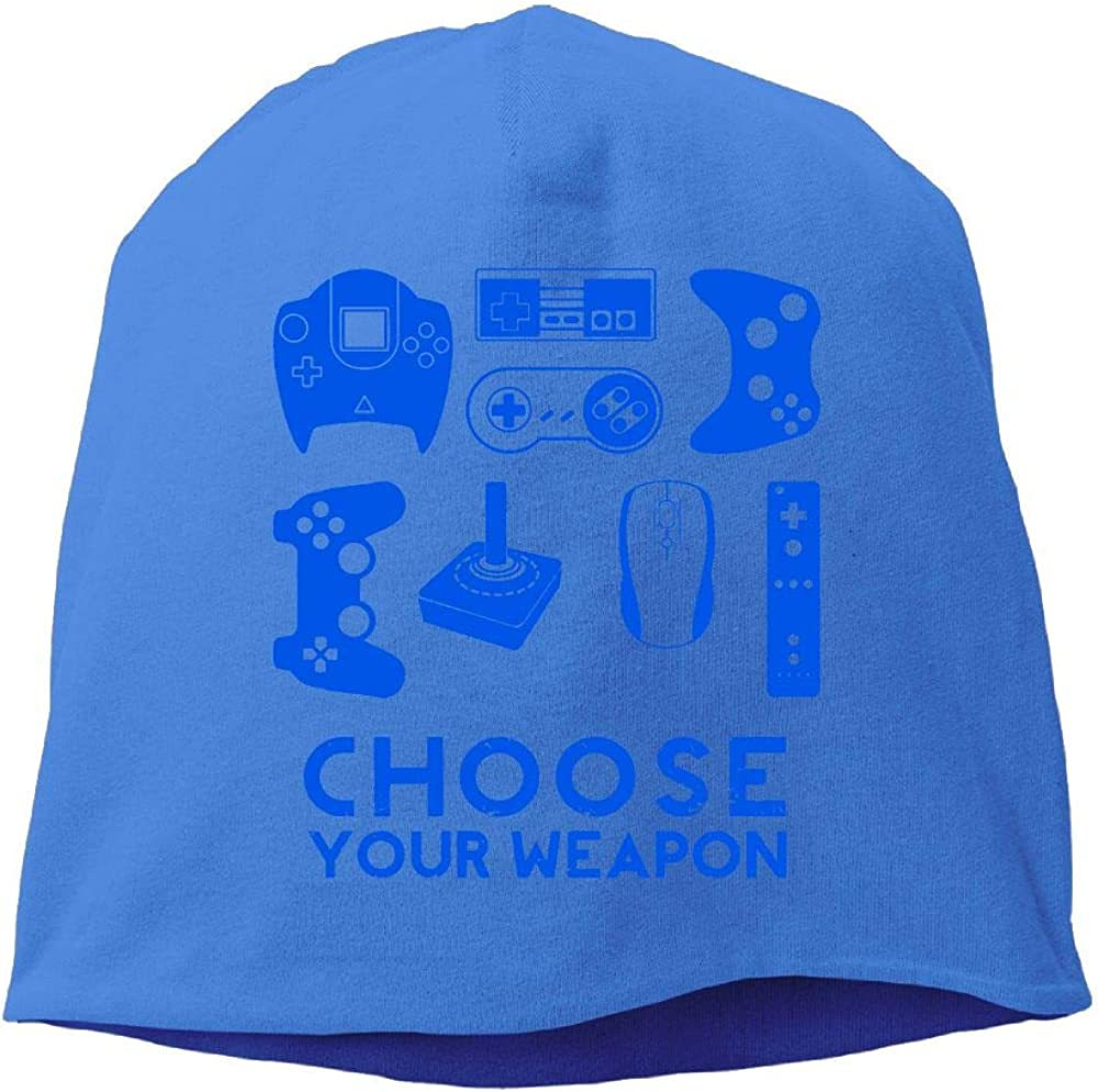 Choose Your Weapon Gamer Beanie Hat for Mens /& Womens Y42ujr@9Y Mens and Womens Fit Knitted Caps