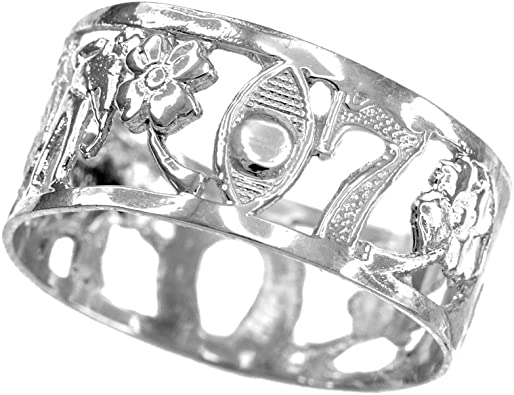 925 Sterling Silver Open Design Band Three Elephant Ring Good Luck Ring