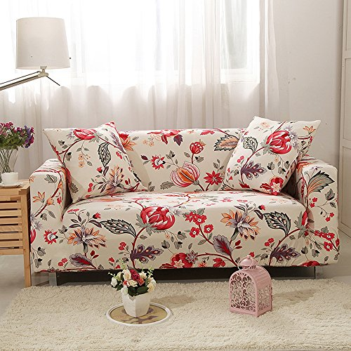 yazi Contemporary Sofa Slipcover Stretch Fit Furniture Couch Protector Cover Three-Seater 74-90 Inch