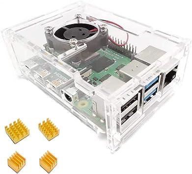 ZkeeShop Caja de Acrylic con Ventilador de refrigeración disipador ...