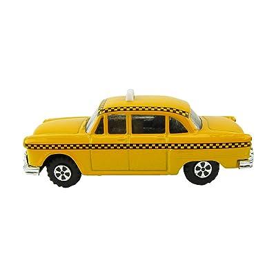 Treasure Gurus 1:48 O Scale Miniature Checker Taxi Cab Model Train Accessory Pencil Sharpener: Toys & Games