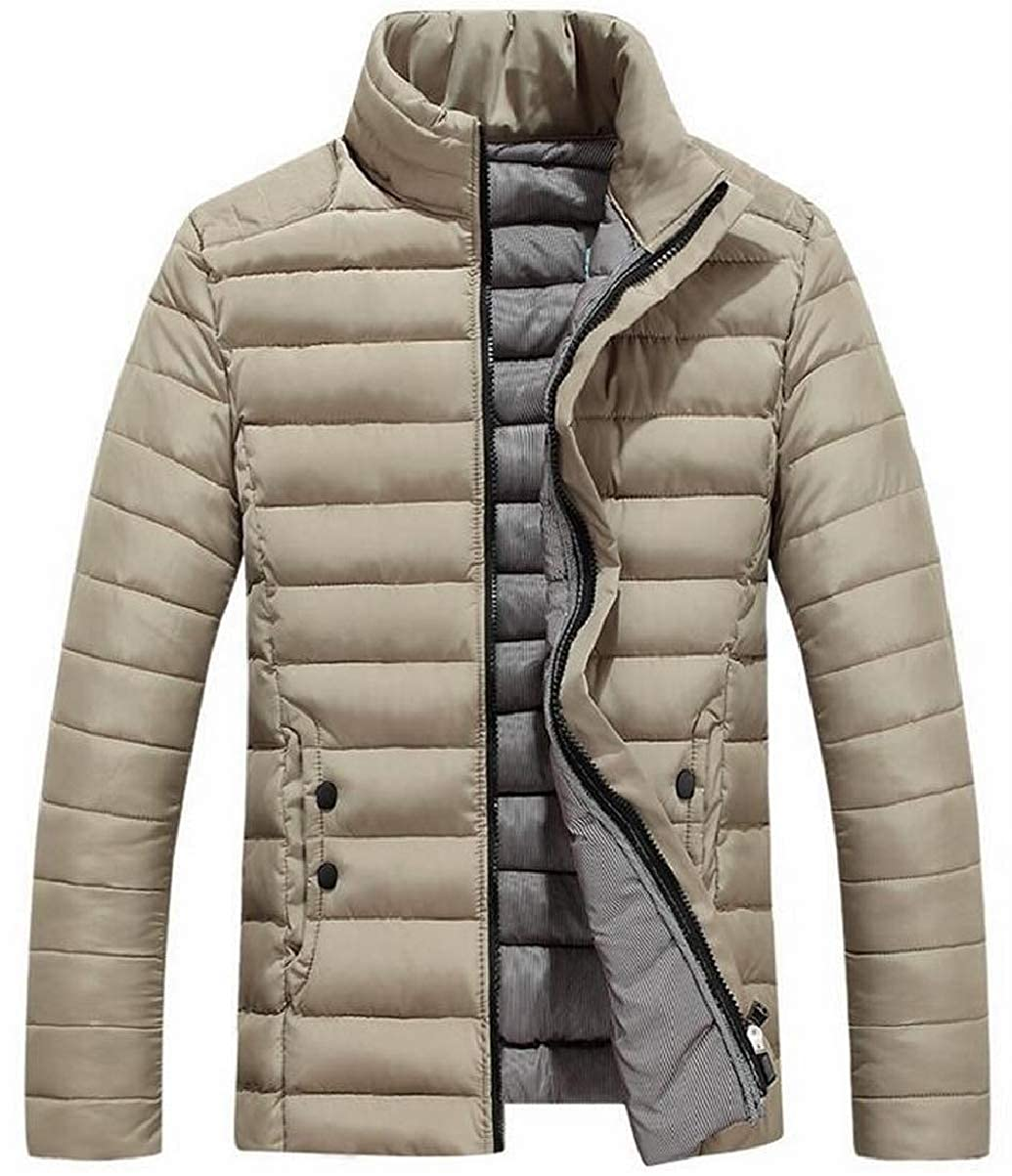 CBTLVSN Mens Parka Linen Cotton Baggy Padded Packable Casual Down Jacket