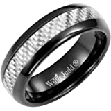 Willis Judd Men's 7mm Tungsten Graphite Carbon Fibre Ring