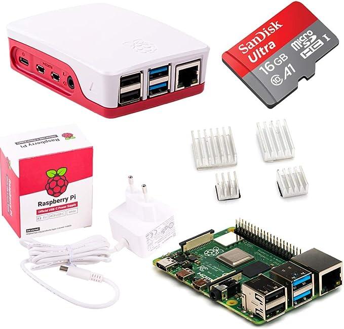 Raspberry Pi 4 Model B - Kit de iniciación de sobremesa (4 GB, 16 ...