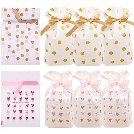 Amazon.com: Bolsas de plástico con cordón para regalo ...