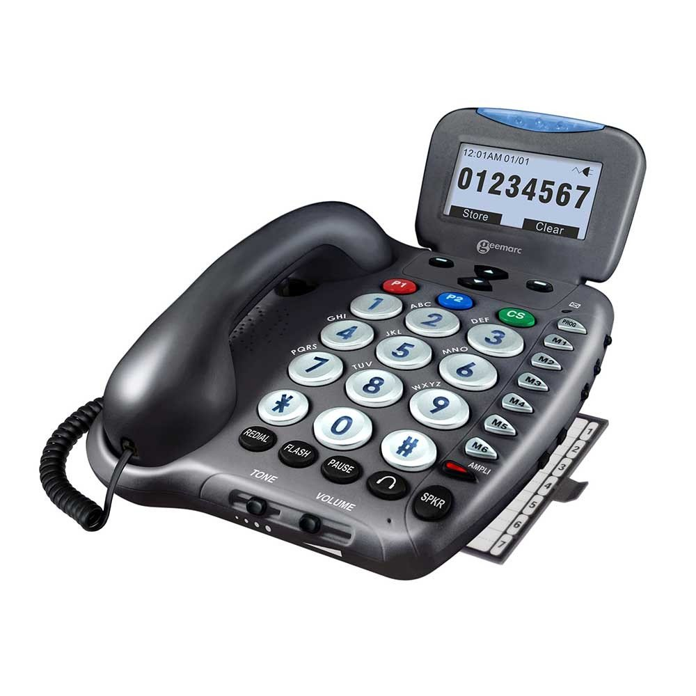 High Volume 52 dB Large Big Button Telephones For May Have Age-Related Eye(s) Or And Ear Problems by Geemarc