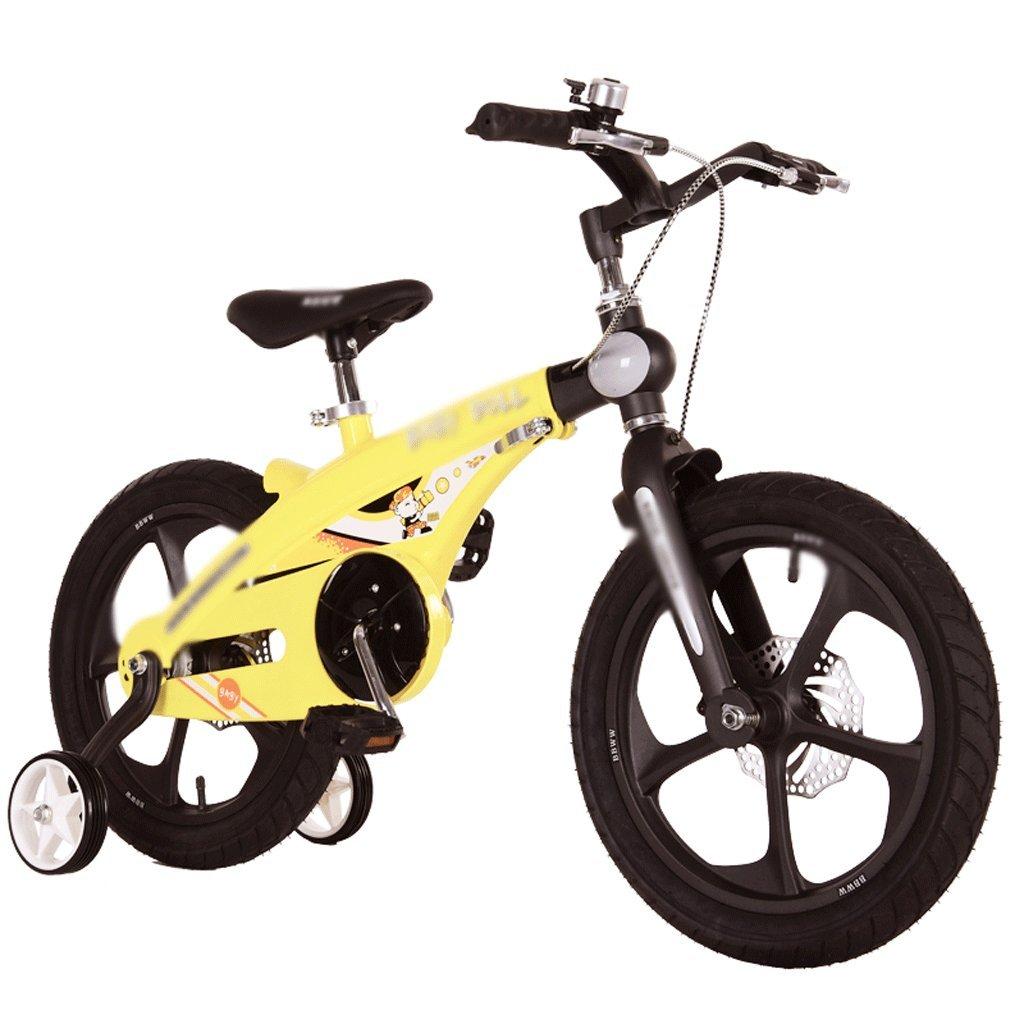 子供用自転車用マグネシウム合金バイク 14/16インチ 男の子と女の子用 衝撃吸収 3-6歳 ピンク+デュアルディスクブレーキ B07FC7VZSV   16 inch