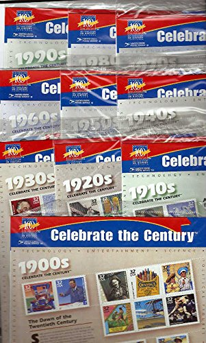 Celebrate the Century U.S. Postage Stamps 1900-1990 Complete Set