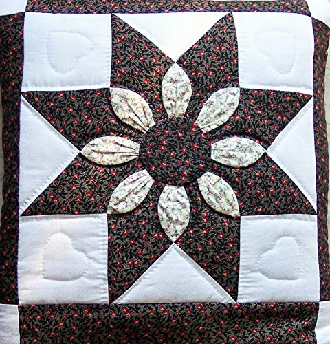 Quillow (Quilt/Pillow Combo) Dahlia MM6 Amish Handmade in USA ()