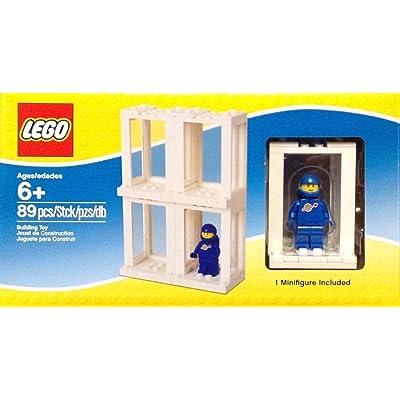 Lego Minifigure Display Presentation Case Box + 1 Bonus Blue Space Minifigure: Toys & Games