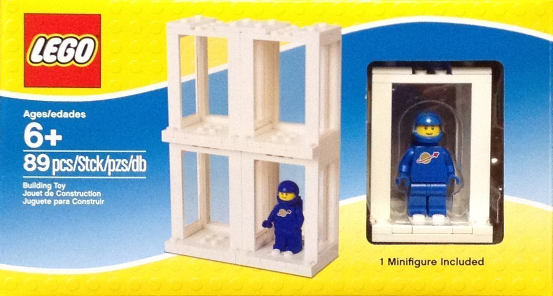 Lego Minifigure Display Presentation Case Box + 1 Bonus Blue Space Minifigure (japan import)