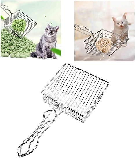 Iusun - Pala de metal para limpiar el inodoro de gatos y gatos, con mango fuerte, útil y transparente, accesorios para mascotas: Amazon.es: Instrumentos musicales