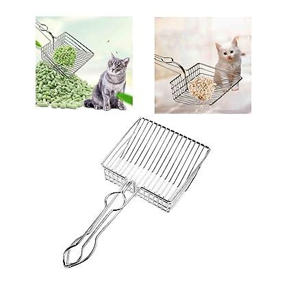 Iusun - Pala de metal para limpiar el inodoro de gatos y gatos ...