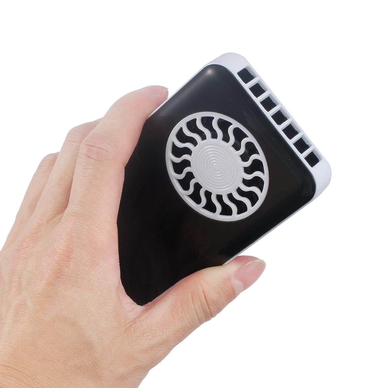 LiNKFOR Mini Ventola Portatile Ventola Handheld Ricaricabile Ventolatore a Batteria Basso Rumore con USB Cavo di Ricarica Bianco