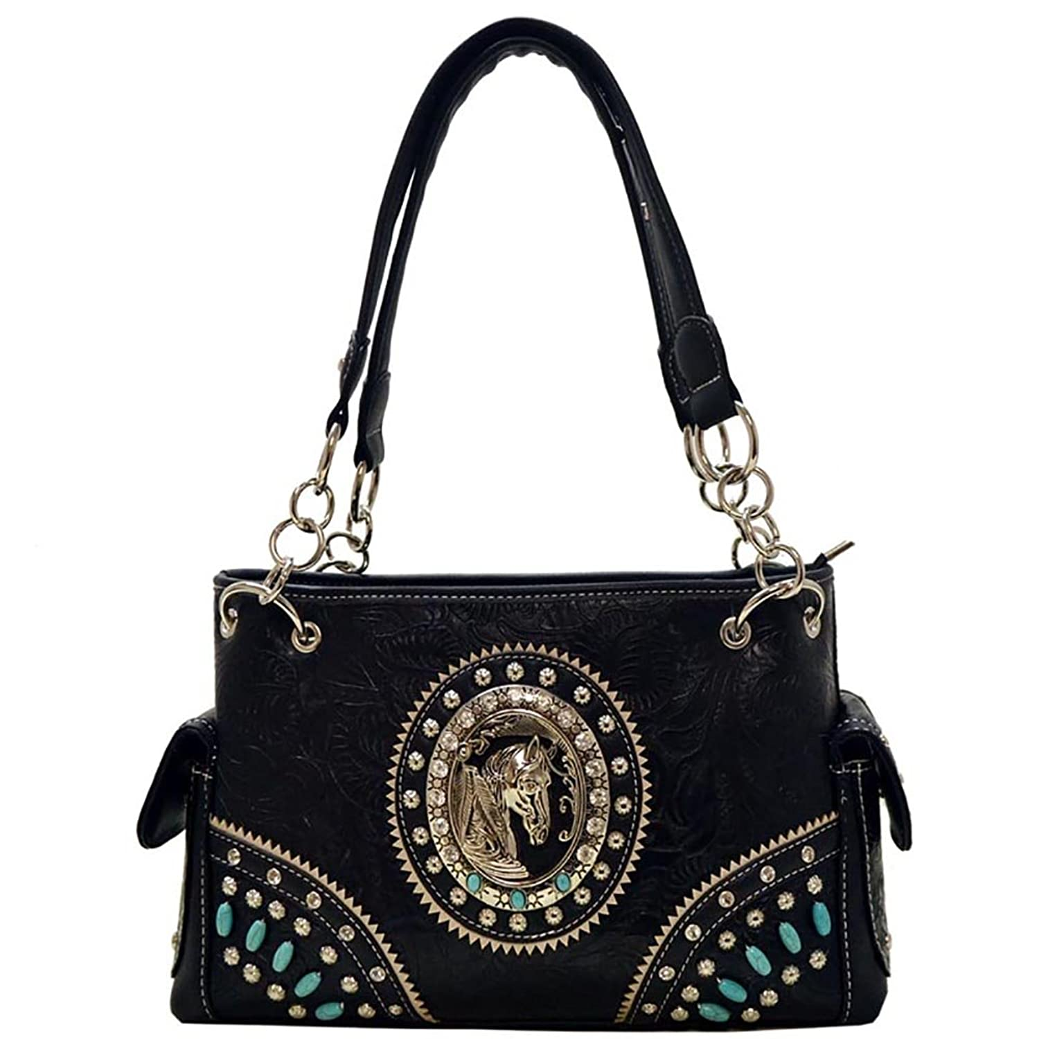 Western Cowgirl Horse Collection Rhinestone Concealed Carry Handbag Bag
