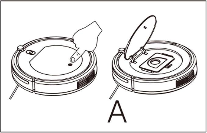 Deasengmint Cepillos Laterales para aspiradora rob/ótica Cepillo HEPA Filtro de filtros para Conga Slim 890 Accesorios para Piezas de aspiradora Robot