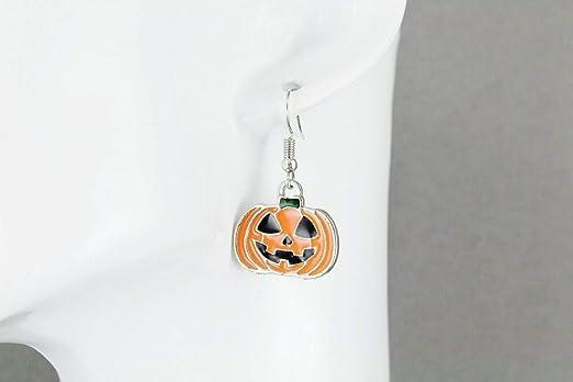 Halloween Earrings Happy Halloween jewelry Pumpkin Earrings Tatting Spooky Halloween party Halloween costume accessories jack o lantern gift