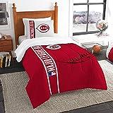 Northwest NOR-1MLB835000007BBB 64 x 86 Cincinnati Reds MLB Twin Comforter Set, Soft & Cozy