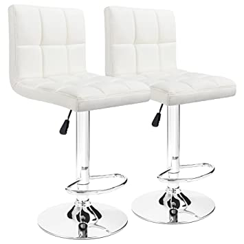 Image Unavailable. Image not available for. Color  Furmax Bar Stools White  ... d824c646c3