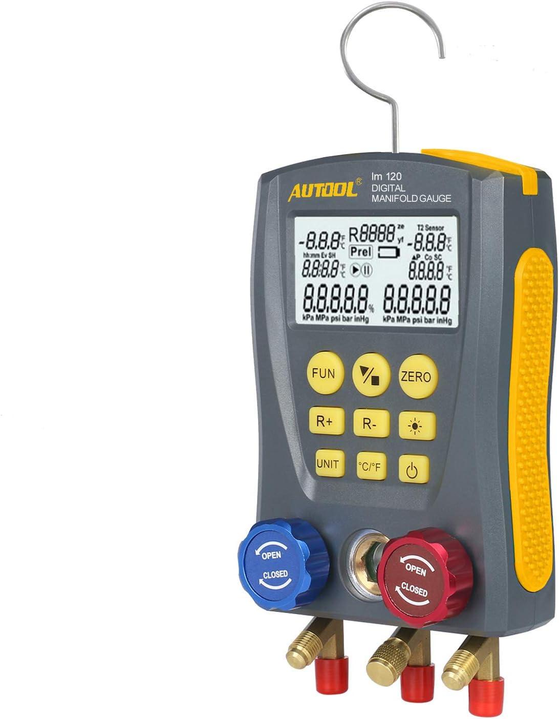 BELEY AUTOOL Refrigeration Digital Manifold HVAC System Gauge Set High-Precision Vacuum Pressure Temperature Leakage Tester Dignostic Meter Kit