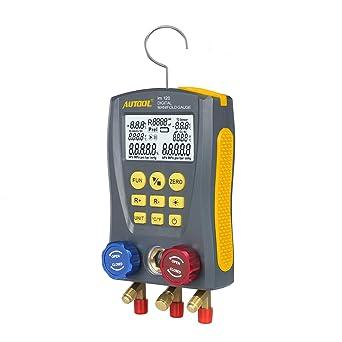BELEY Refrigeration Digital Manifold HVAC System Gauge, High-Precision  Vacuum Pressure Temperature Leakage Tester Dignostic Meter for Testing &