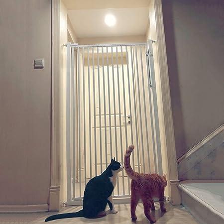 Barrera de seguridad Escalera Extra Ancha Y Alta/Pasillo para Caminar A Través De La Puerta para Perros/Gatos con Kit De Montaje, Altura De 120cm, Blanco (Size : 146-152CM): Amazon.es: Hogar