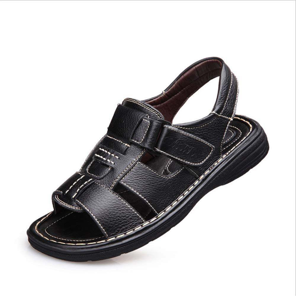 Wagsiyi Hausschuhe Sandale Herren Sommer Outdoor-Freizeit und Anti-Rutsch-Strand Schuhe Atmungsaktive Sandalen (23.5-27.0) cm Strandschuhe Schwarz