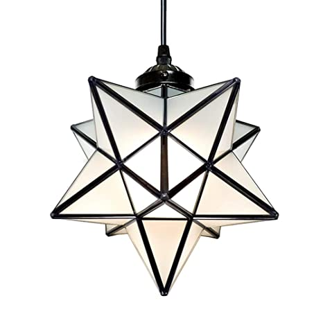 Lighting Star 1 Light Frosted Glass Pendant Chandelier 8 Inch