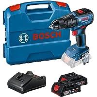 Parafusadeira Furadeira Impacto Bosch GSB 18V-50 18V Brushless com 2 baterias, 1 carregador e maleta