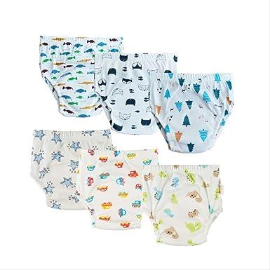 XOODEO 6 pcs bebé Entrenamiento Pantalones algodón niños Lavable ...