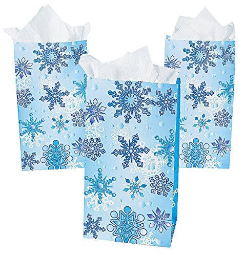 Large Snowflake Treat Bags (Snowflake Treat Bags)