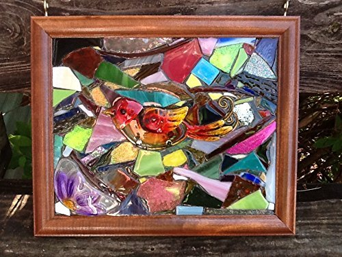 Bird Stained Glass Window Art Sun Catcher